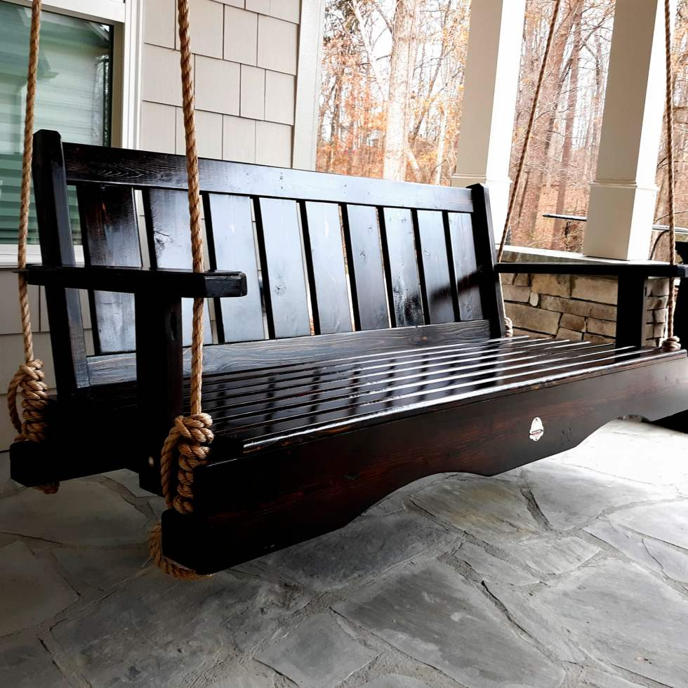 Luxury Handcrafted Porch Swings For Sale