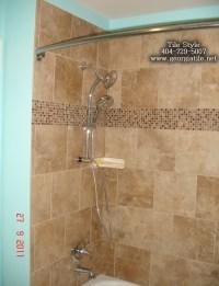 Tile Style - Travertine Tub Shower Remodel Alpharetta Ga