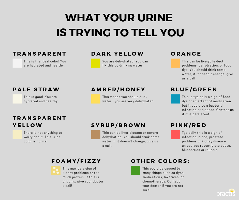 what your urine color says about your health (infographic)