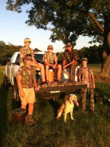 A group of hunters with their take of doves at the Appling County opening day dove shoot.