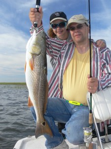 Brantley Wester caught and released this 30-inch redfish this week while fishing with his daughter Rayanna.
