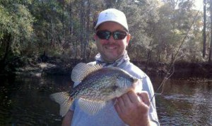 Ed Zmarzly of Waycross caught this nice crappie from the Satilla River on Friday