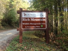 New sign at Rich Mountain WMA.