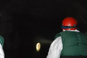 Researchers survey Black Diamond Cave (Photo by: Pete Pattavins, USFWS)