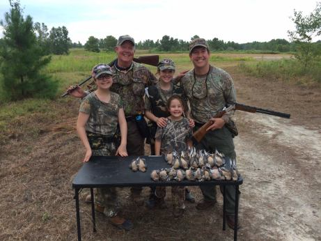 three generations of dove hunters