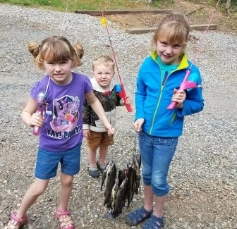trout fishing Peters family on Wildcat 4_14_18