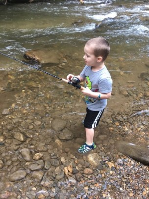 trout fishing Tallulah Aug 2018 Tripps first pic2