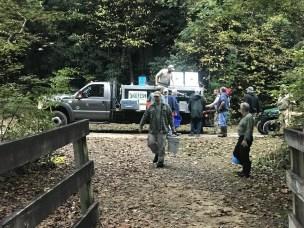Stocking Smith Creek Delayed Harvest portion thanks to TU Volunteers
