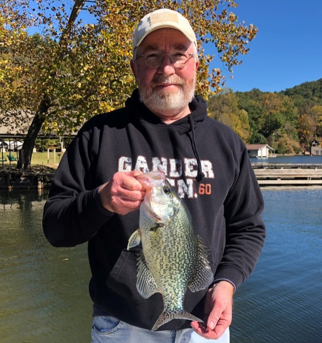 Jeff Payne caught this nice crappie on Lake Rabun on Oct. 29