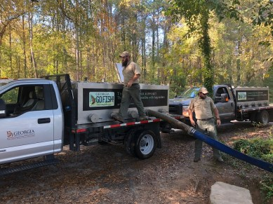 Trout Stocking into Chattahoochee