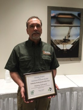 WRDs Danny Edwards Honored by American Fisheries Society