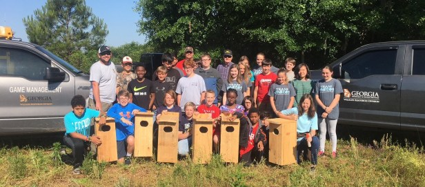 volunteer group wood duck boxes