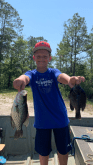 Keegan had a great day on the Alapaha River recently. He smashed the bluegills and redbreasts and even had a nice crappie.