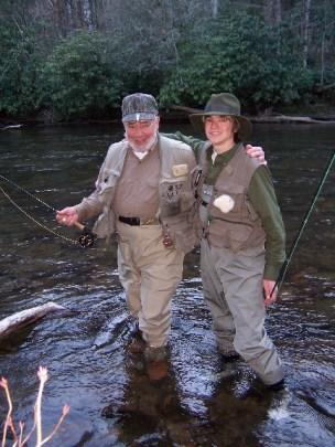salmon camp 06 doug and pat