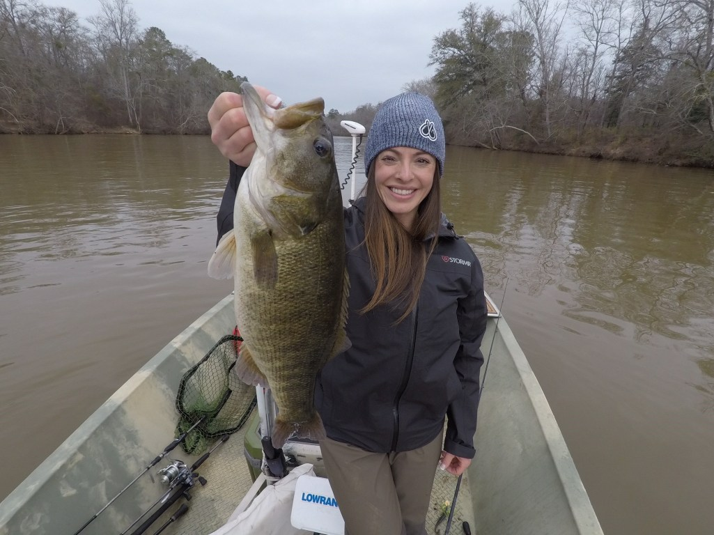 "From Lea Anne: ""So BEYOND excited to share this with you guys, I have been chasing shoal bass for years. I finally got one, and she was a TANK! Beyond excited."""