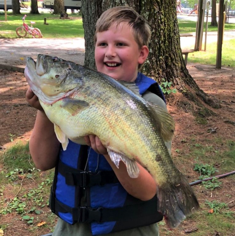 Matthew Burton with this MONSTER largemouth caught on Lake Burton!