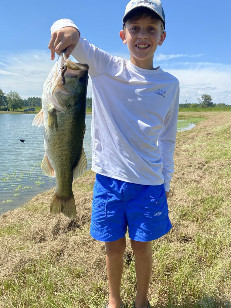 Ethan caught this 20-incher during the trip to Paradise PFA.