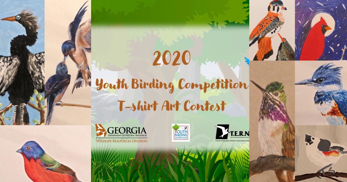 Enjoy a Virtual Show of Youth Birding T-shirt Art
