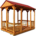 backyard cabanas gazebos Icon