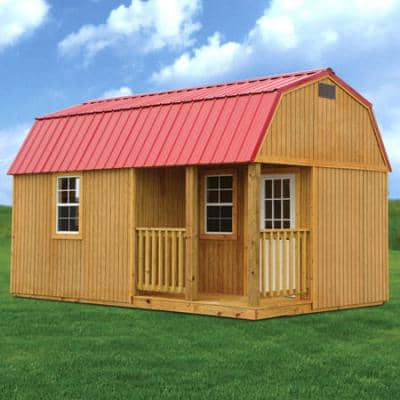 Treated Side Lofted Barn Cabin Available in 10', 12', 14', 16' Widths