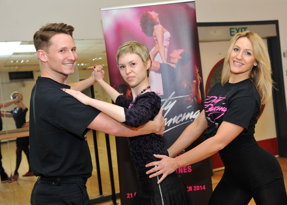 "Dirty Dancing ""sandwich"" pose 1 (Photo by Colin Bridges)"