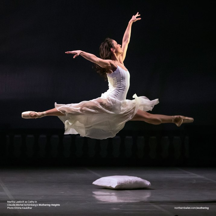 Northern Ballet dancer Martha Leebolt as Cathy in Claude-Michel Schönberg's 'Wuthering Heights' (Photo by Emma Kauldhar)