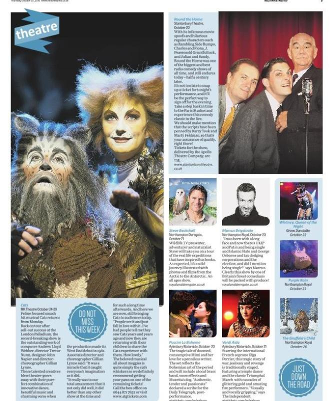 MK Citizen GO! 20th October 2016 - Cats preview