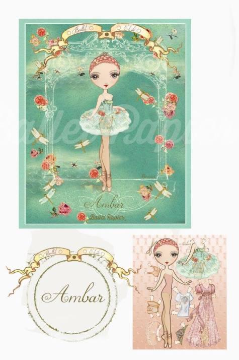 Ballet Papier - Ballet Étoiles paper dolls and notebooks - Ambar