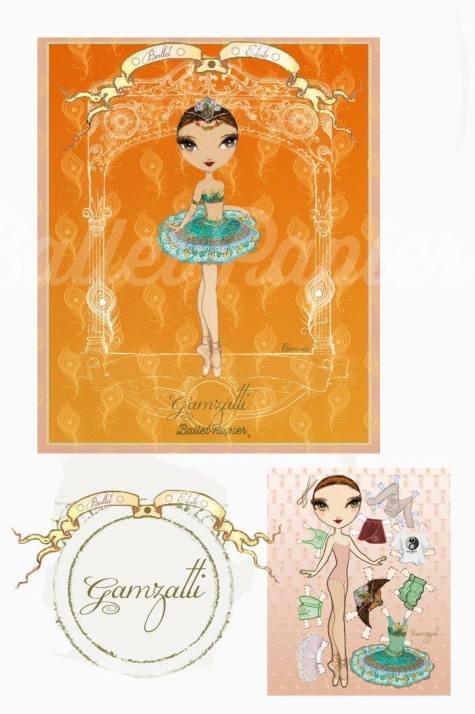 Ballet Papier - Ballet Étoiles paper dolls and notebooks - Gamzatti