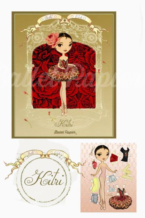 Ballet Papier - Ballet Étoiles paper dolls and notebooks - Kitri