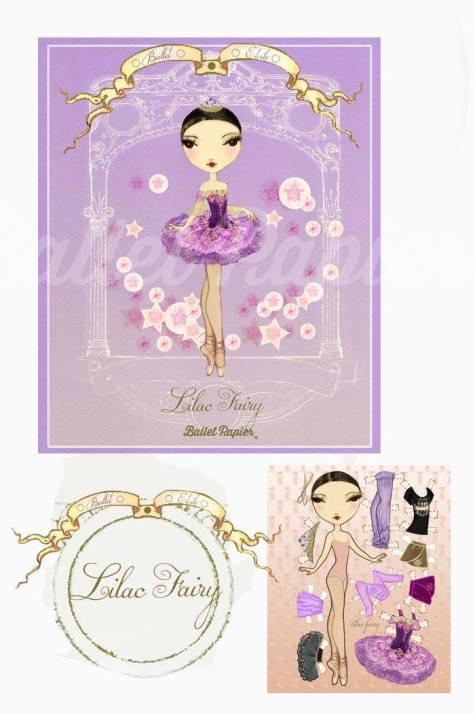 Ballet Papier - Ballet Étoiles paper dolls and notebooks - Lilac Fairy