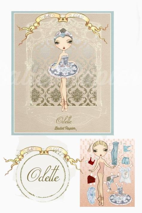 Ballet Papier - Ballet Étoiles paper dolls and notebooks - Odette