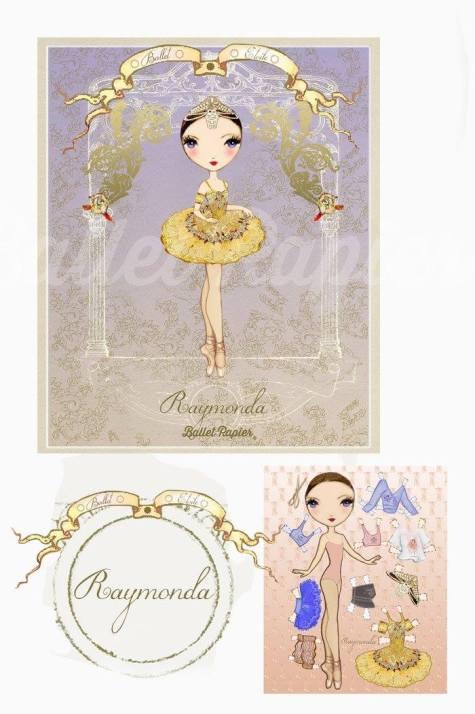 Ballet Papier - Ballet Étoiles paper dolls and notebooks - Raymonda