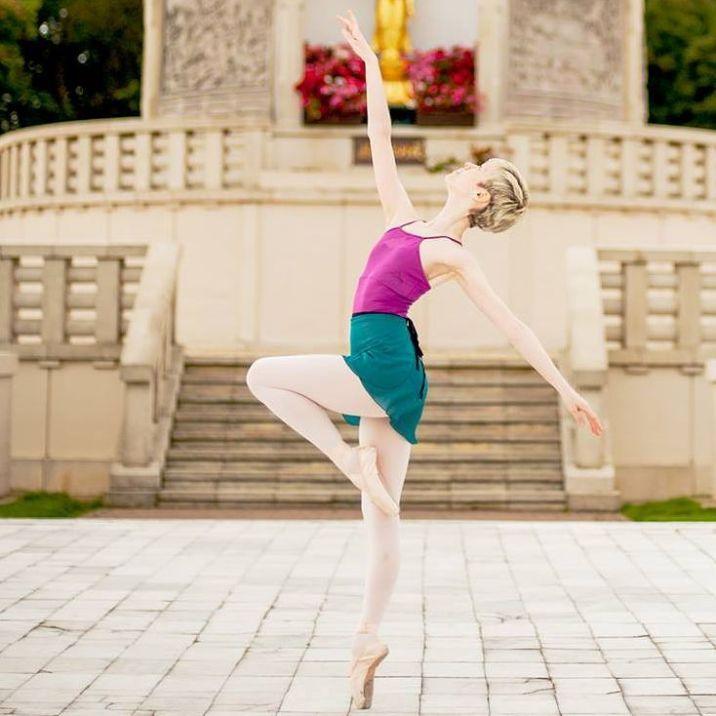 Georgina Butler dancing outside