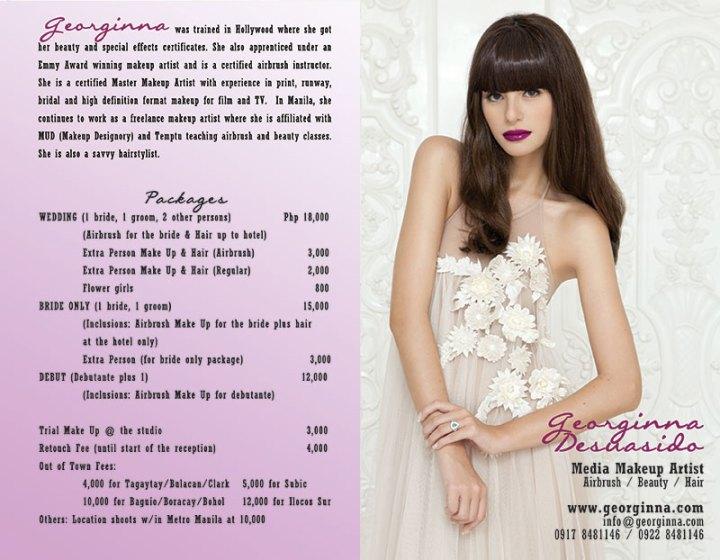 Georginna Media Makeup Artist Rates