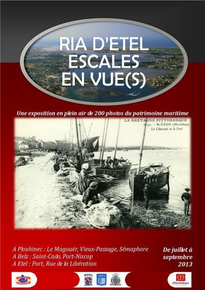 """""""Ria cd'Etel - Escales en vue(s)"""" Exposition photos sur différents sites autour de la Ria d'Etel - juillet à septembre 2013"""