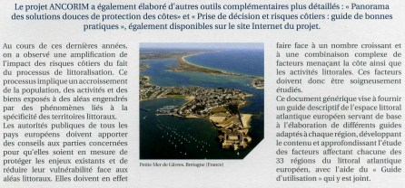 Guide de gestion des risques littoraux réalisé dans le cadre du programme ANCORIM, Atlantic Network for Coastal Risks Management (programme européen Interreg IVB), 2012 (pages intérieures)