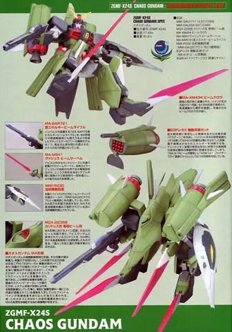 MG 1/100 ZGMF-X24S CHAOS GUNDAM