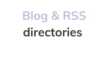 Blog & RSS directories