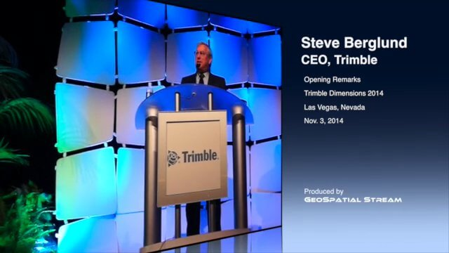 CEO Berglund Opens Trimble Dimensions 2014