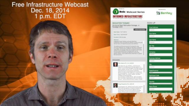 12_11 Infrastructure Broadcast (Autodesk University, Bentley Webcast and More)