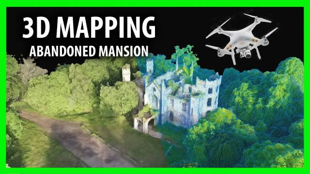 3D Drone Mapping of Scotland's Cambusncethan Priory Mansion