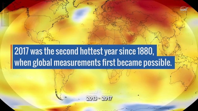 NASA: 2017 Takes Second Place for Hottest Year
