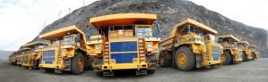 Fleet of Dump Trucks