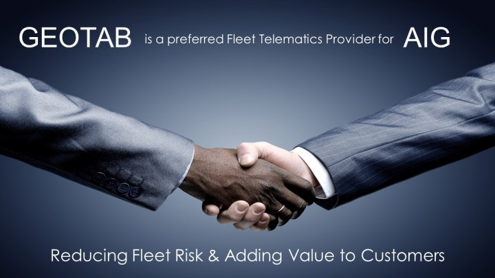 Geotab Africa is now a preferred Fleet Telematics Provider for AIG