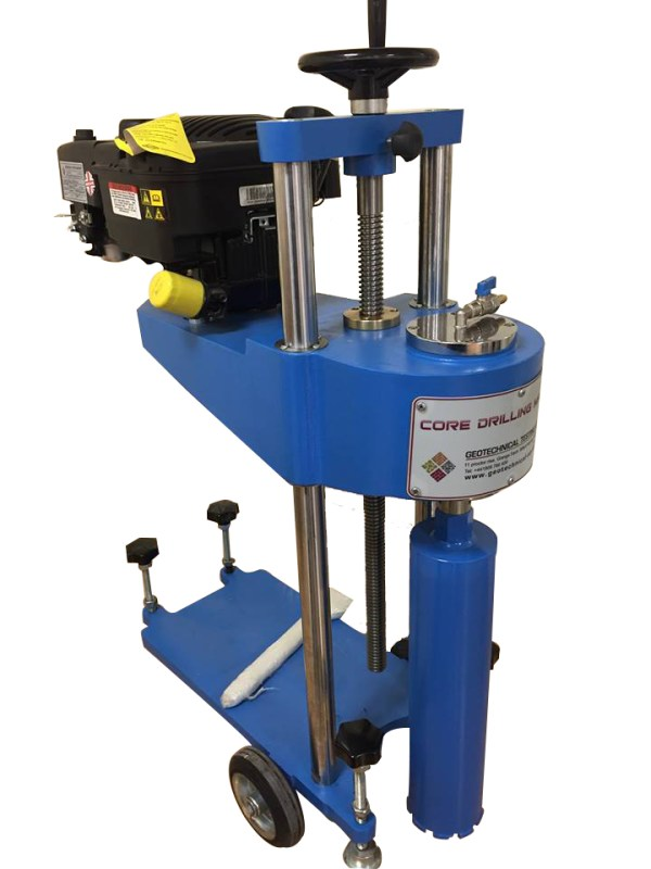 The Core Drill Machine is designed to cut cores up to 200 mm diameter from concrete, asphalt, rocks and similar hard construction materials.