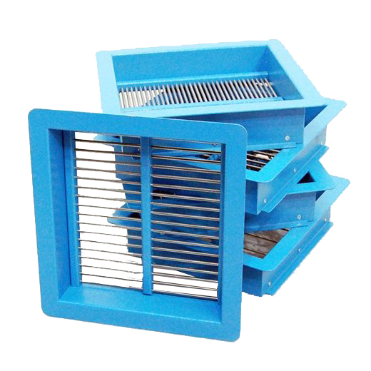 Grid Sieves are used for the determination of the flakiness index of the aggregate.
