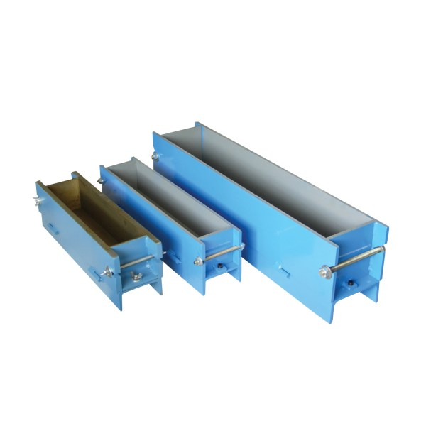 Beam molds are used to form concrete beams for third or center point testing. Plastic or heavy gauge steel, and variety of sizes available.