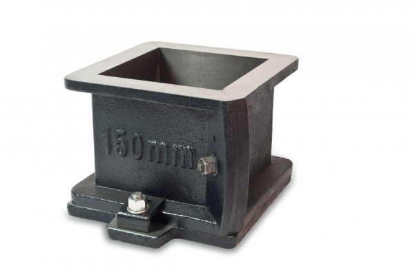 The cast iron steel cube molds are manufactured from heavy duty durable material and in accordance to the dimensions and tolerances acceptable by the standard.