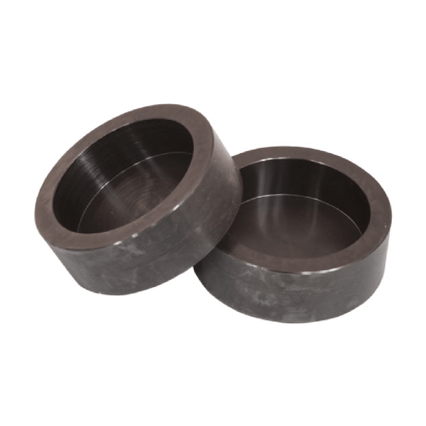 Steel Retainer Set are used with neoprene pads (sold separately) in unbounded capping for compressive strength testing of Concrete Cylinders.